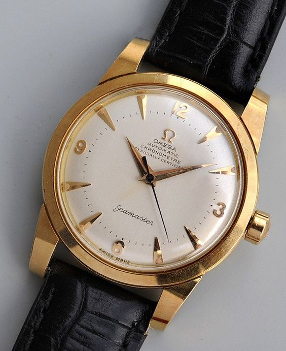 Vintage OMEGA Seamaster Chronometer In 18K Solid Gold Circa 1950s