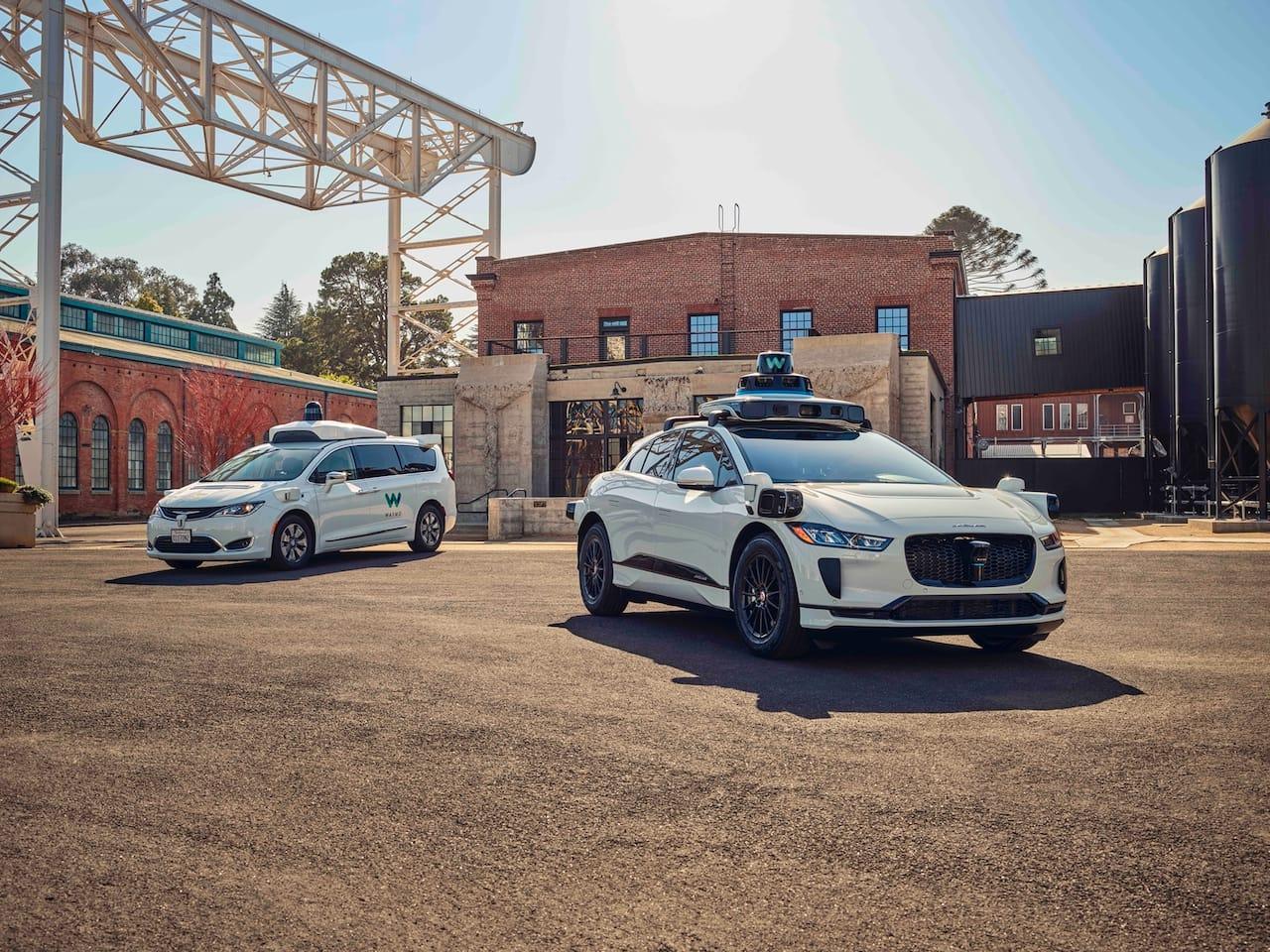 Waymo's autonomously driven Jaguar I-PACE electric SUV