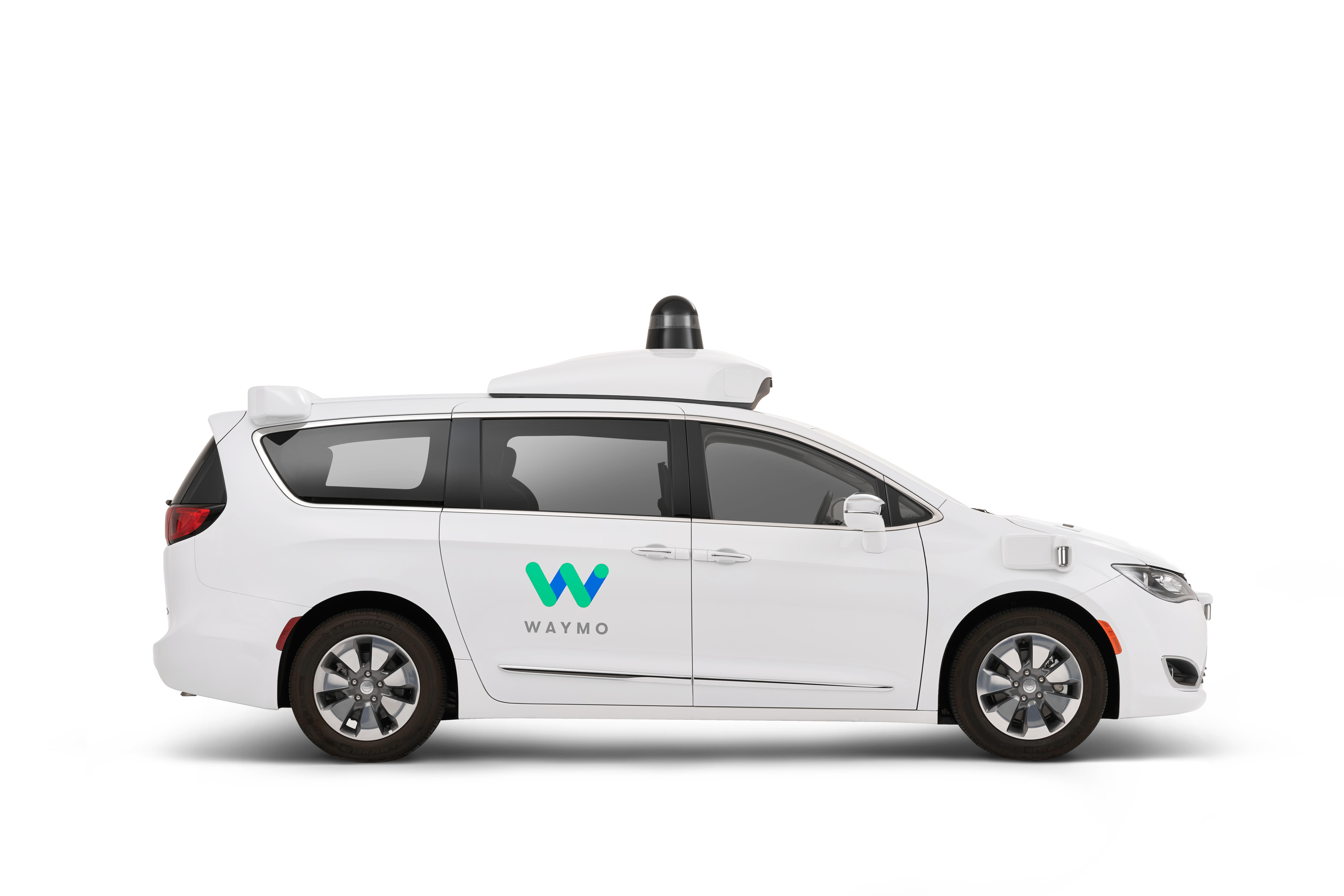 Waymo's autonomously driven Chrysler Pacifica Hybrid minivan