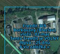 Zvýrazněná oblast Freeditu
