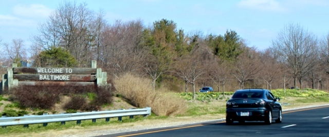 Sign on MD-295 NB