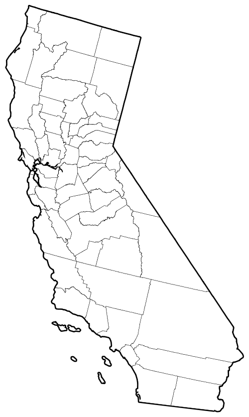 California counties outline map