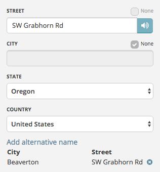 Editing segment city data