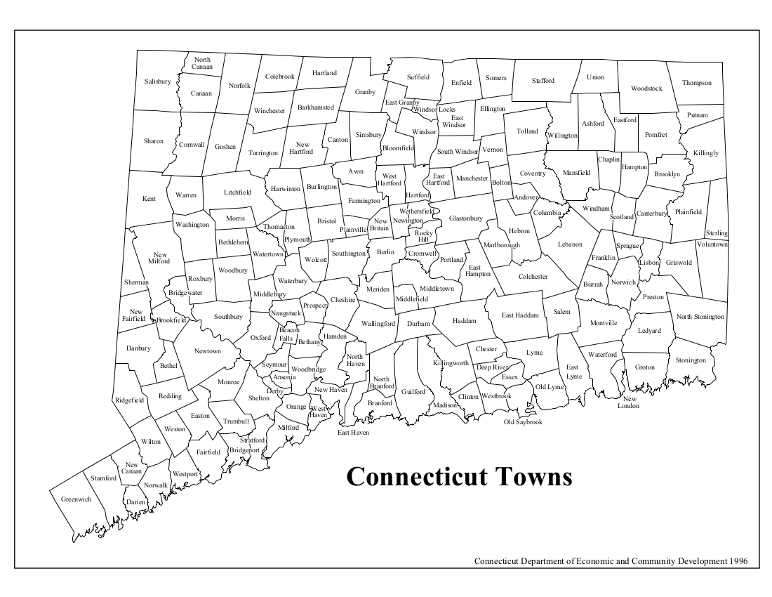 town map of connecticut Connecticut Cities And Towns Wazeopedia town map of connecticut