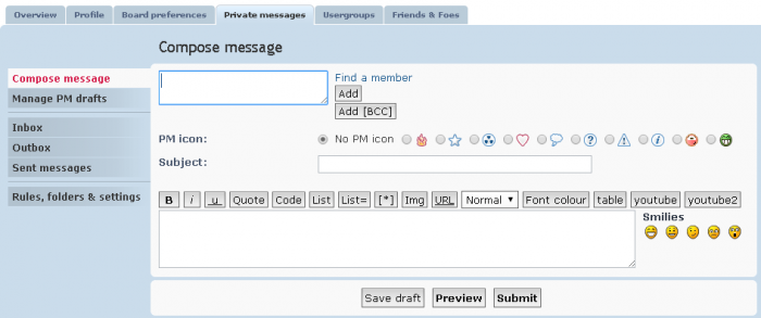 Cómo crear un nuevo mensaje