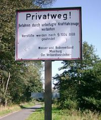 Deutschland Schild Privatweg.jpg