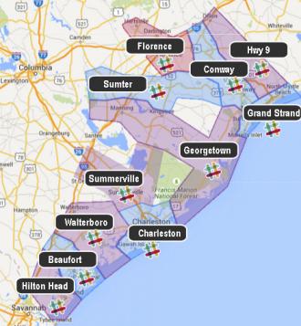 Map of Philadelphia Area with Mapraid Pennsylvania areas shown
