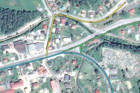 Posunutá podkladová mapa