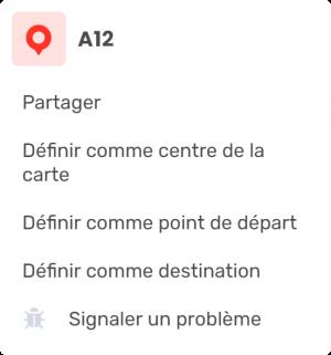 Boîte de sélection de points de navigation