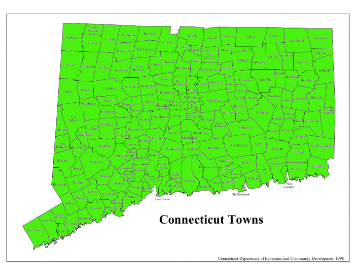 CT Town Map