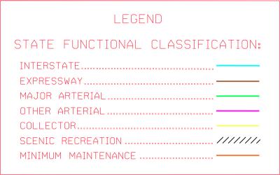 Nebraska Functional Classification Legend