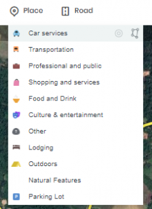 Places categories