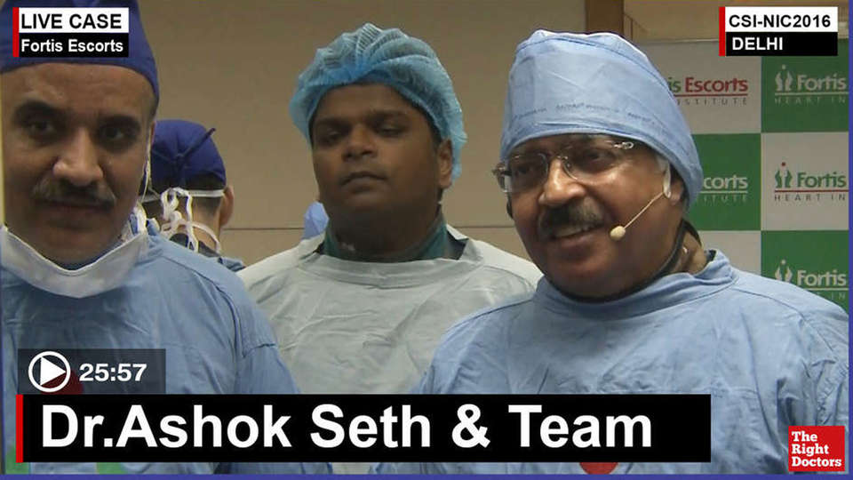 Dr. Ashok Seth, Interventional Cardiologist, Fortis Escorts, New Delhi