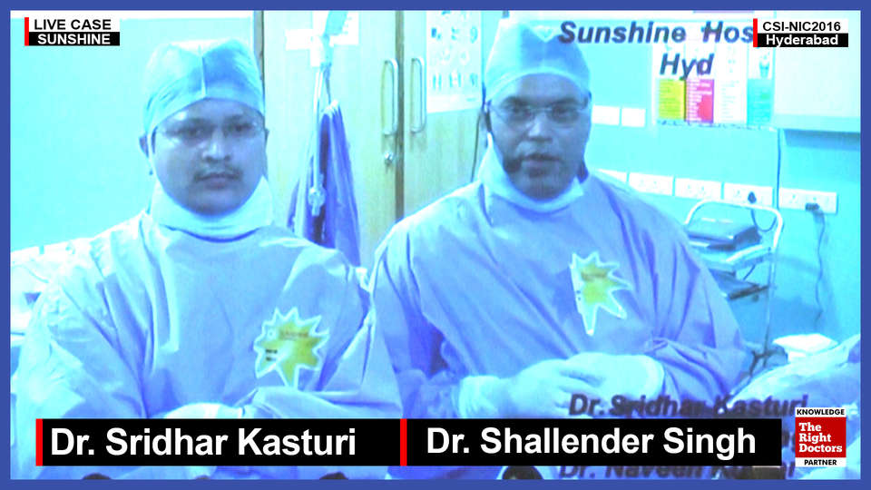 Dr. Sridhar Kasturi, Interventional Cardiologist, Sunshine Hospital, Hyderabad