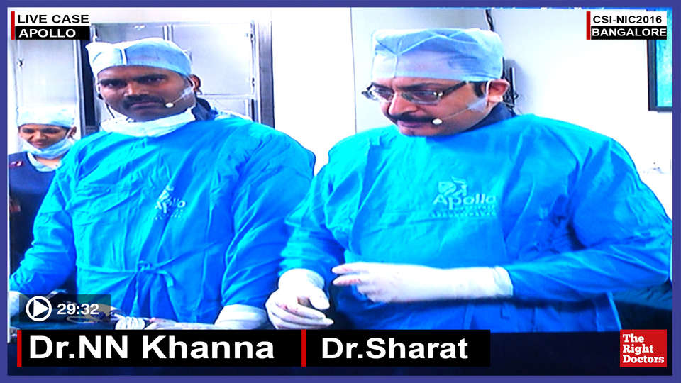 Dr. NN Khanna, Interventional Cardiologist, Apollo Hospital, Secundrabad