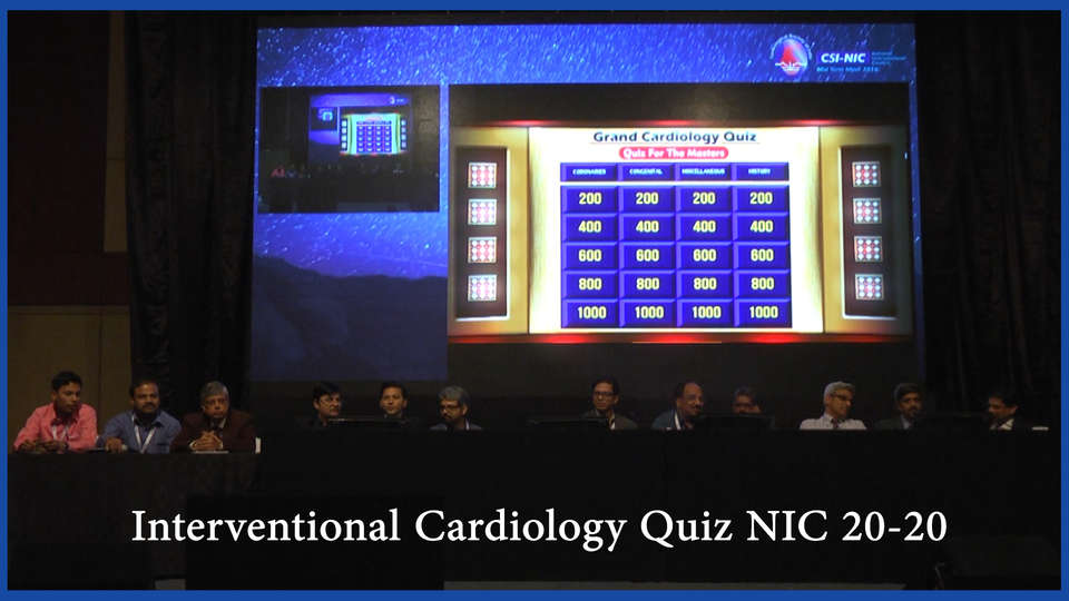 Interventional Cardiology Quiz NIC 20-20