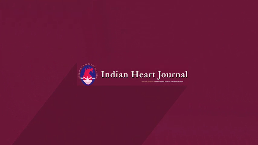 Indian Heart Journal I Dr.Sundeep Mishra I Dr.Ramakrishnan