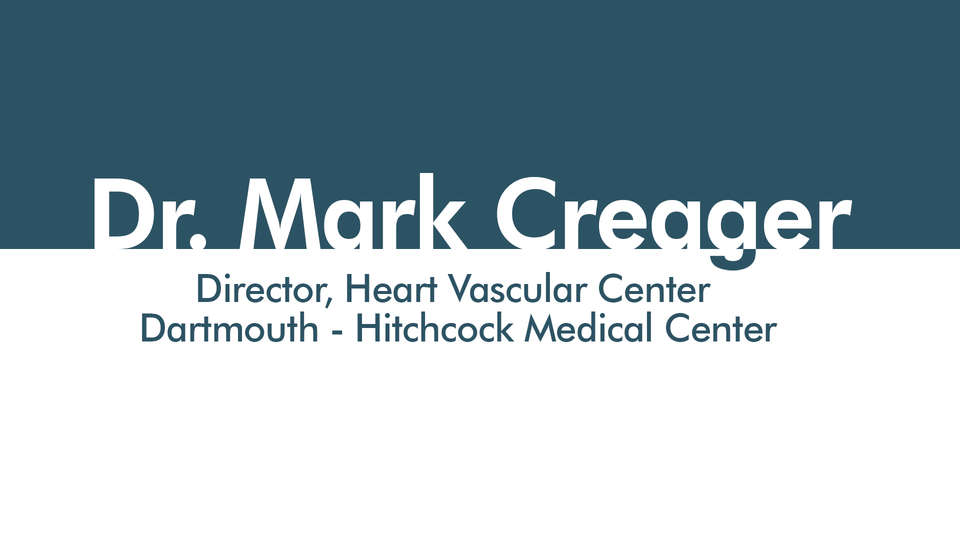 Dr. Mark A Creager, Director, Heart Vascular Center, Dartmouth-Hitchcock Medical Center, Managing the risks of Cardiovascular disease in patients with diabetes