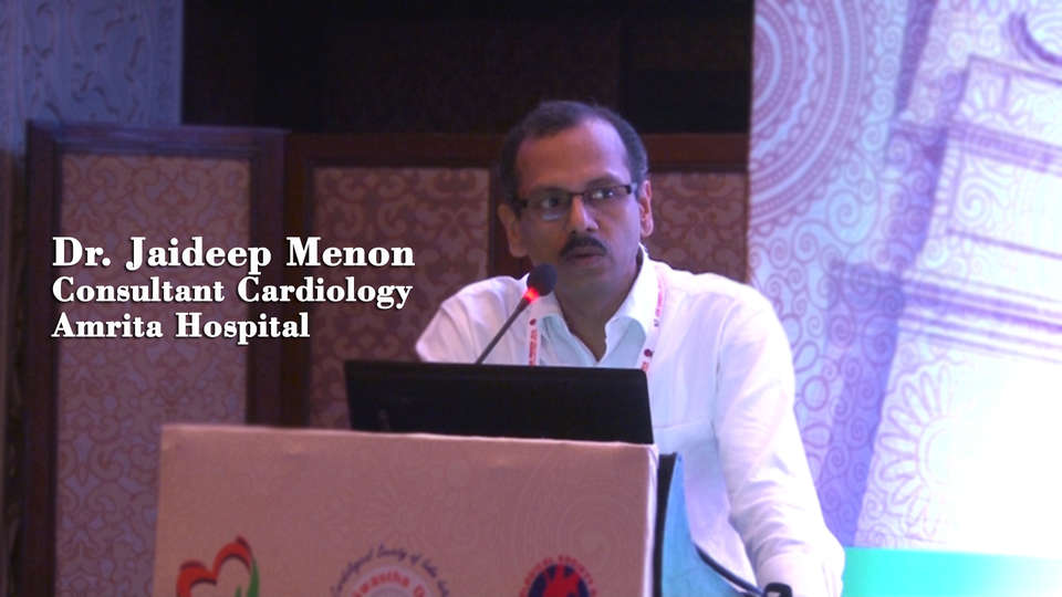 Dr. Jaideep Menon,Senior Consultant Cardiology,Amrita Hospital,ENDIRA: The Epidemiology of Non communicable diseases in Rural India