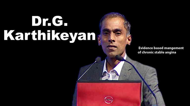 Dr. G Karthikeyan Leading Cardiologist and Professor of Cardiology AIIMS, New Delhi on TheRightDoctors.com An Analysis on = Evidence Based Management of Chronic Stable Angina