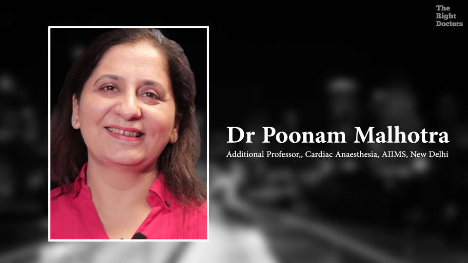 Dr. Poonam Malhotra, Associate Professor, Dept. of cardiac Anaesthesia,  AIIMS, New Delhi, ECMO and Echocardiography