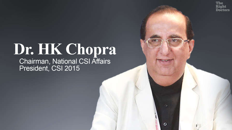 Dr. HK Chopra,Chairman, National CSI Affairs, President, Cardiological Society of India-2015
