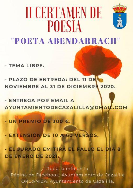Aplazamiento fecha Certamen de Poesía