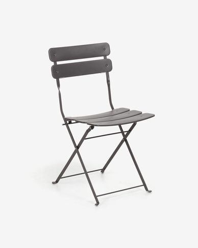 Alrick matte graphite chair