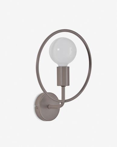 Rohme wall lamp in grey