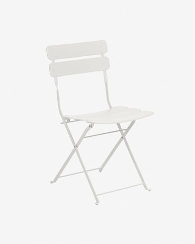 Alrick matte white chair