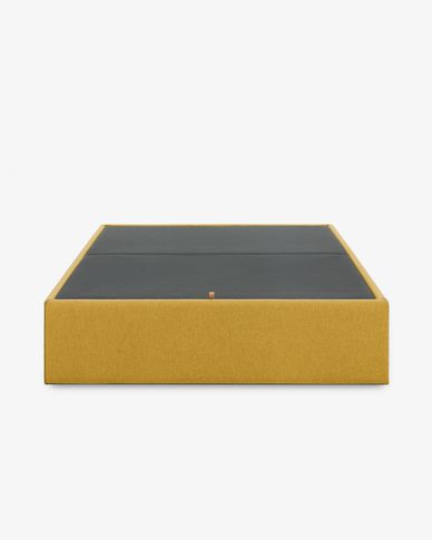 Storage bed base Matter 140 x 190 cm mustard