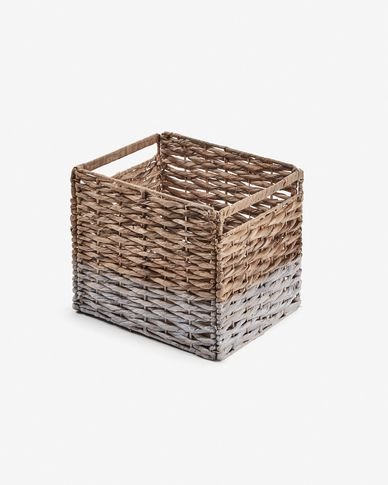 Words basket natural and white