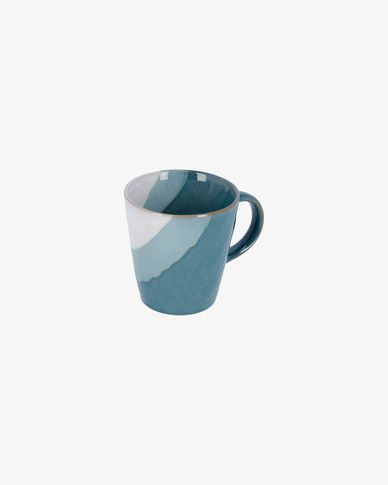 White and blue Nelba cup