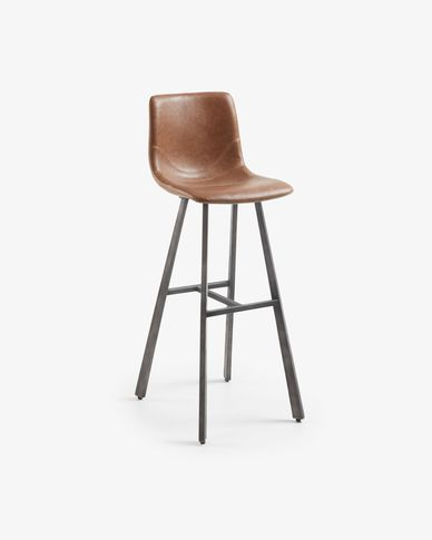 Oxid brown Trap barstool height 81 cm