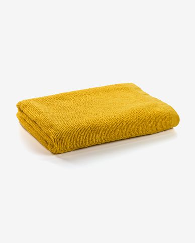 Miekki large bath towel mustard