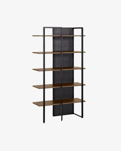 Walnut wood Nadyria Shelving Unit 100 x 180 cm