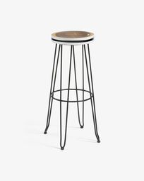 Black Faye barstool height 74 cm