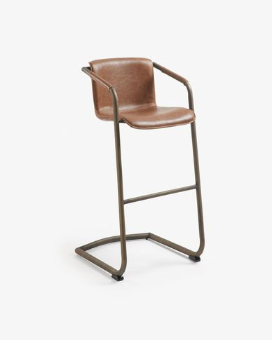Oxid brown Tribe barstool height 79 cm