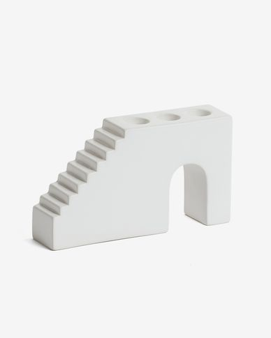 Anteia candle holder in white