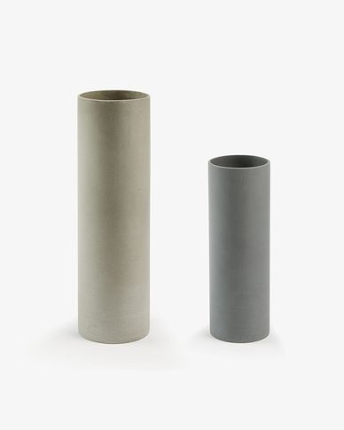 Marta set of 2 vases cylinder