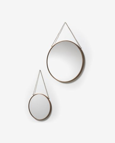 Icon set of 2 mirrors Ø 41 cm / Ø 26 cm