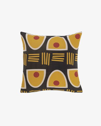 Marietou black 45 x 45 cm cushion cover