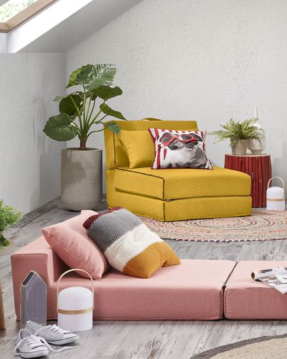 Mustard Arty bed pouf 70 x 89 (200) cm