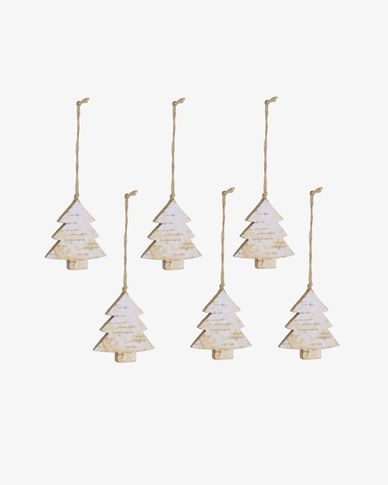 Alira set of 6 Christmas tree decorations