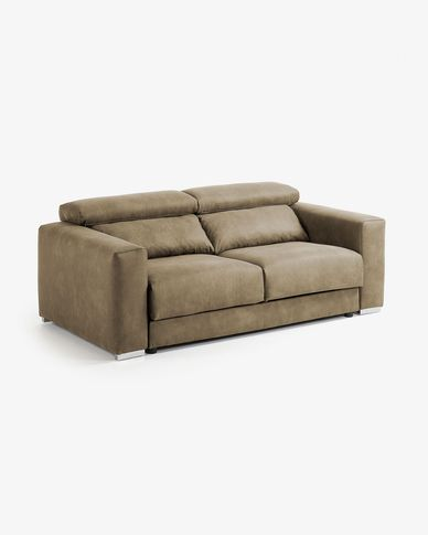 Greyish-brown 3-seater Atlanta sofa 210 cm