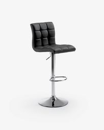 Crema barstool black height 60-81 cm