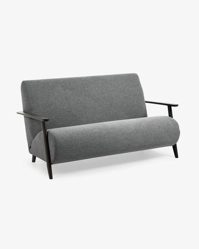 Dark grey 2 seaters Meghan sofa 145 cm