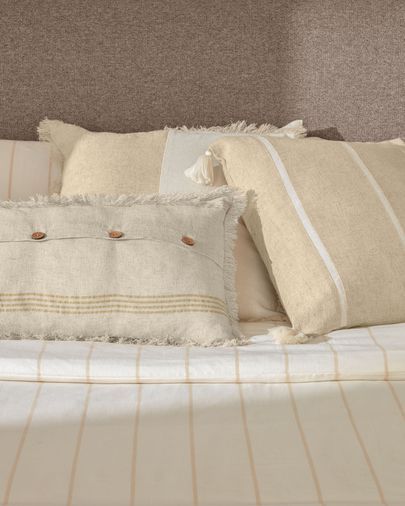 Silene beige stripes cushion cover 45 x 45 cm