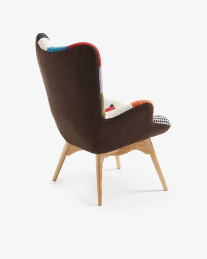 Multicolour patchwork  Kody armchair