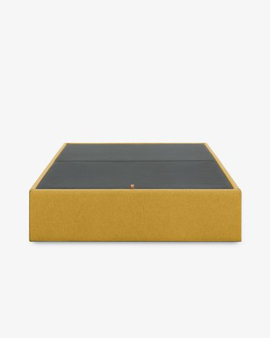 Storage bed base Matter 150 x 190 cm mustard